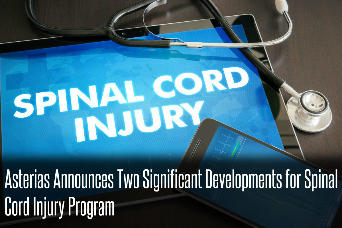 In The News_Asterias Announces Two Significant Developments for Spinal Cord Injury Program (2017)