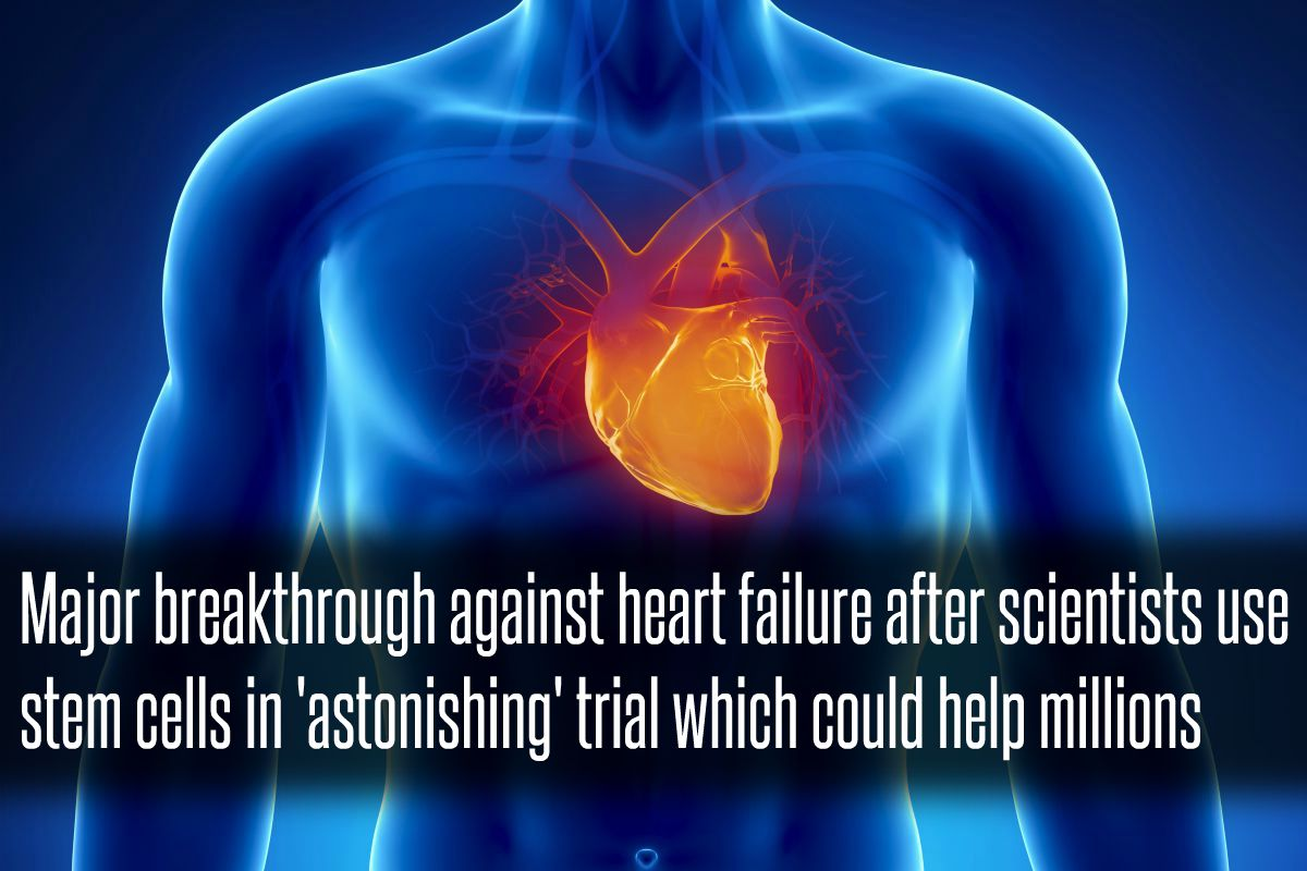 In The News_Major breakthrough against heart failure after scientists use stem cells in 'astonishing' trial which could help millions (2016)